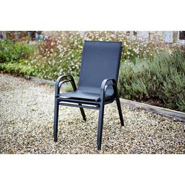 Argos Home Sicily 4 Seater Metal Patio Set - Black