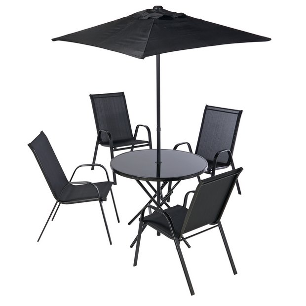 Awesome Buy Argos Home Sicily 4 Seater Metal Patio Set Black Patio Sets Argos Interior Design Ideas Inesswwsoteloinfo