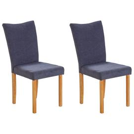 Argos Home Tabitha Pair of Wing Back Dining Chairs - Grey