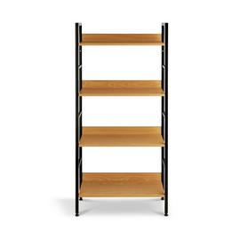 Argos Home 4 Tier Metal & Oak Effect Shelf Unit