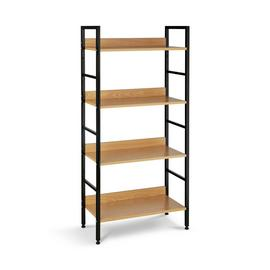 Habitat 4 Tier Metal & Oak Effect Shelf Unit