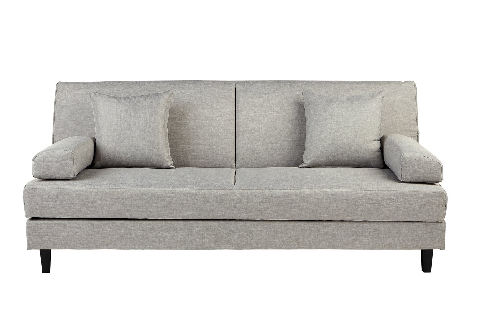 HOME Chase Clic Clac Fabric Storage Sofa Bed   Light Grey