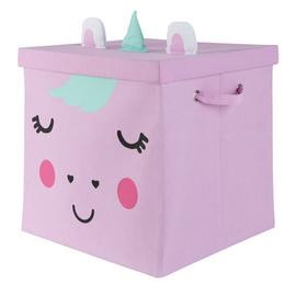 Argos Home Unicorn 40cm Storage Box with Lid