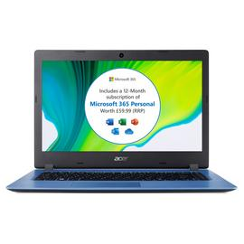 Acer Aspire 1 14in Celeron 4GB 64GB Cloudbook - Blue