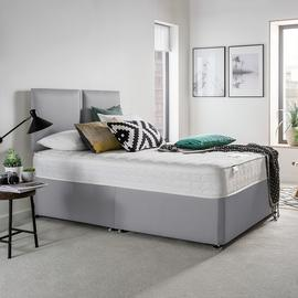 Silentnight Hatfield Small Double Memory Divan Bed - Grey