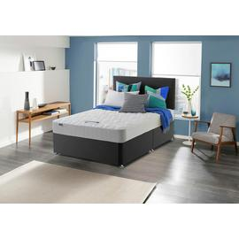Silentnight Travis Microquilt Double Divan Bed - Charcoal