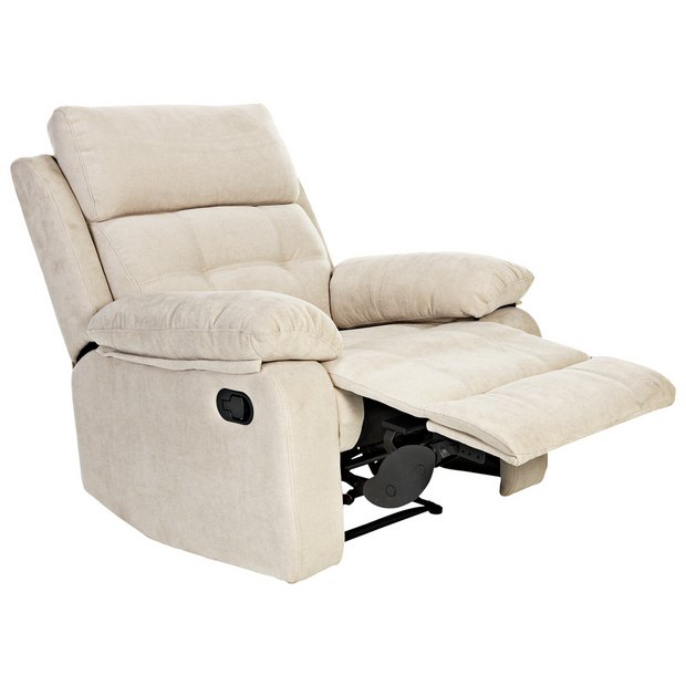 Buy Argos Home June Fabric Manual Recliner Chair Natural | Armchairs and chairs | Argos