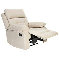 Argos Home June Fabric Manual Recliner Chair - Natural