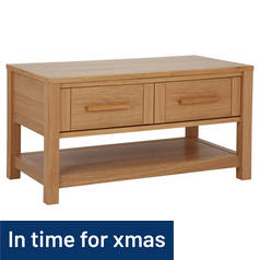 Argos Home Mawsley 2 Drawer Oak Veneer Coffee Table