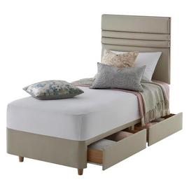Silentnight Roma Single 2 Drawer Divan Set - Sandstone