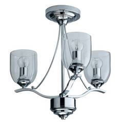 Ceiling and wall lights indoor lighting argos page 2 argos home fae 3 light glass ceiling fitting chrome aloadofball Images