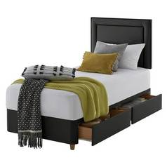 Silentnight Toulouse Single 2 Drawer Divan Set - Ebony