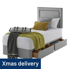 Silentnight Toulouse Single 2 Drawer Divan Set - Slate Grey