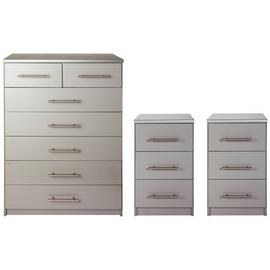 Argos Home Normandy 2 Bedside Tables & 5+2 Drawer Chest Set