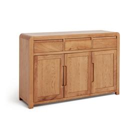 Argos Home Novara 3 Door 3 Drawer Sideboard - Oak Veneer