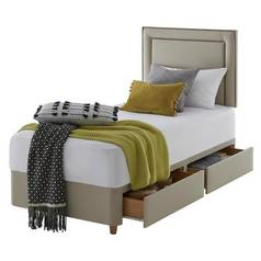 Silentnight Toulouse Single 2 Drawer Divan Set - Sandstone