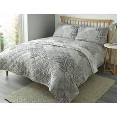 Fusion Alena Silver Bedding Set - Kingsize