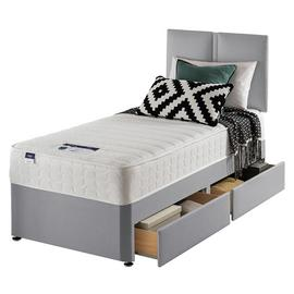 Silentnight Hatfield Microquilt 2 Drawer Divan Bed - Single