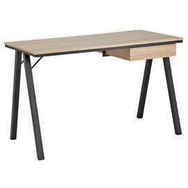 Argos Home Industrial Style Desk with Drawer - Oak Effect