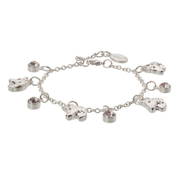 Buy Emoji Silver Colour Unicorn Crystal Charm Bracelet  33bfd84a3ef2