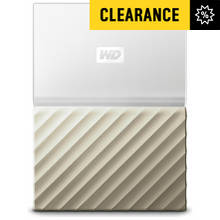 WD My Passport Ultra 4TB Portable Hard Drive - White / Gold