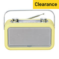 Bush Gladstone Leather DAB Radio - Yellow