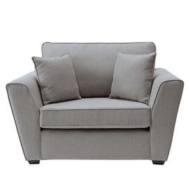Argos Home Renley Fabric Cuddle Chair - Light Grey