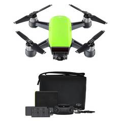 DJI Spark Fly More Combo Drone Kit - Green
