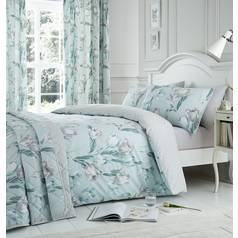 Dreams N Drapes Tulip Duck Egg Bedding Set - Kingsize