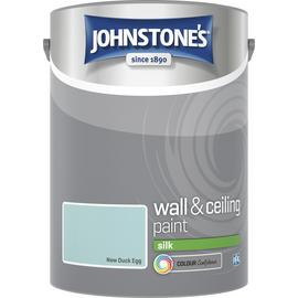 Johnstone's Wall & Ceiling Paint Silk 5L - New Duck Egg