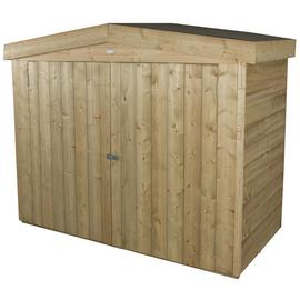 Forest Plus Pressure Treated Overlap Large Apex Outdoor Store, Natural, 7 x 3 ft Best Price and Cheapest