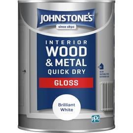 Johnstone's Quick Dry Gloss 1.25L - White