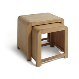 Argos Home Novara Nest of 2 Tables - Oak Veneer