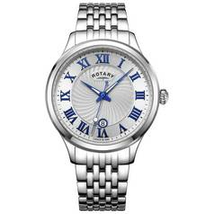 Rotary Men's Roman Numeral Stainless Steel Bracelet Watch