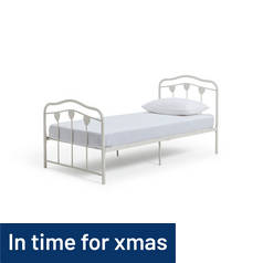 Argos Home Hearts Single Bed Frame - White