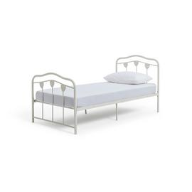 Argos Home Hearts White Single Bed Frame