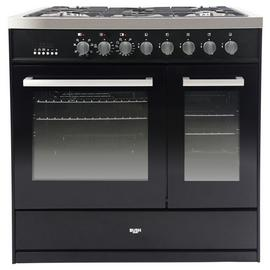 Bush BRCNB90DBLBK 90cm Dual Fuel Range Cooker - Black
