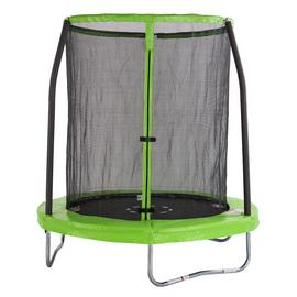 Chad Valley 6ft Outdoor Kids Trampoline with Enclosure