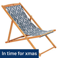 Argos Home Deck Chair - Zig