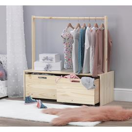 Argos Home Rico Rail with Storage Unit - Pine