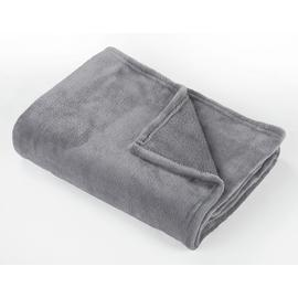 Argos Home Super Soft Fleece Throw - 125x150cm - Flint Grey