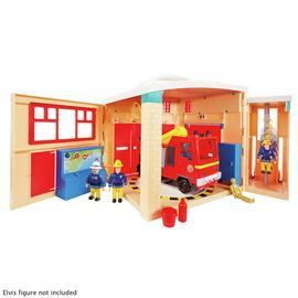 Fireman Sam Fire Station and Engine