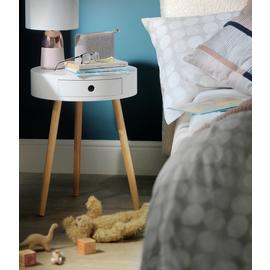 Argos Home Otto 1 Drawer Round Bedside Table