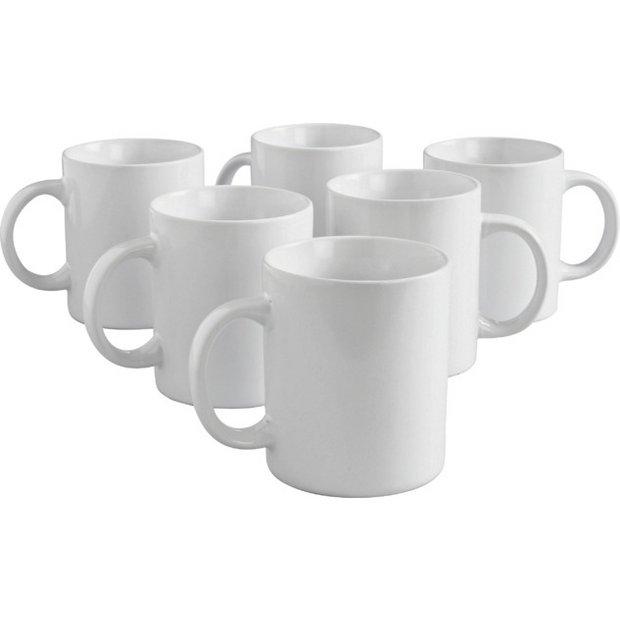 c3d28e9e6c2 Buy Argos Home Set of 6 Porcelain Mugs - White | Cups and mugs ...