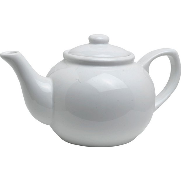 Buy Home 6 Cup Traditional White Porcelain Tea Pot At