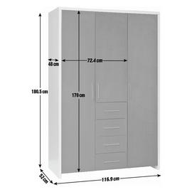 Argos Home Broadway 3 Door 4 Drawer Wardrobe