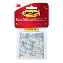 Command Clear Medium Wire Toggle Hooks