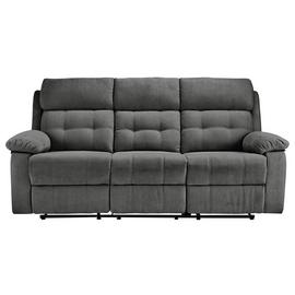 Argos Home June 3 Seater Fabric Recliner Sofa - Charcoal