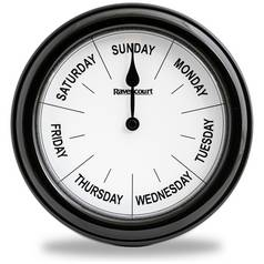 Thoughtfully Designed Days of the Week Clock