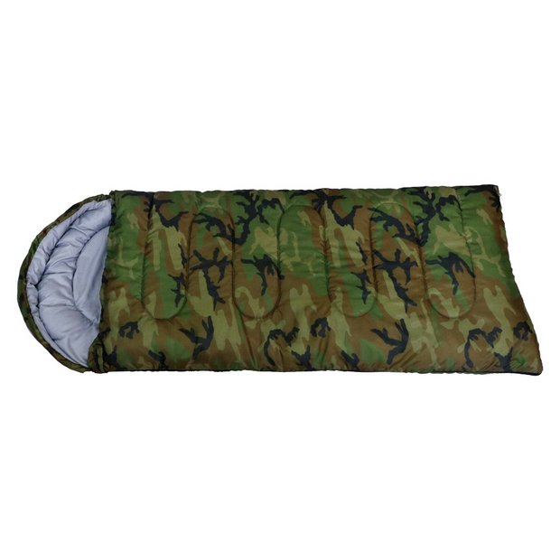 info for dc6ce e625e Buy ProAction Cowl 200GSM Camouflage Kids Sleeping Bag | Sleeping bags |  Argos